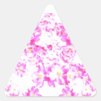 Pink Dogwood Blossom Triangle Sticker