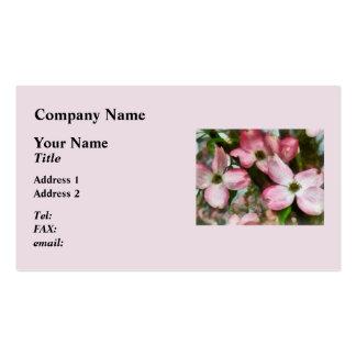 Pink Dogwood Closeup Business Cards