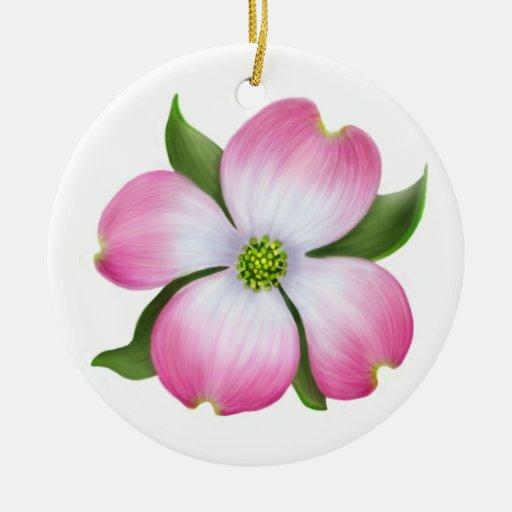 Pink Dogwood Floral Ornament