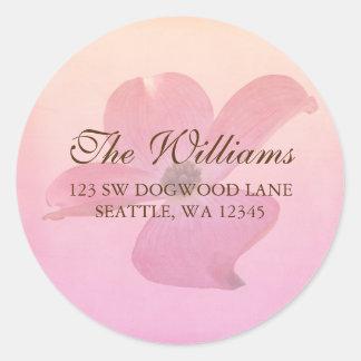 Pink Dogwood Flower Blossom Address Label