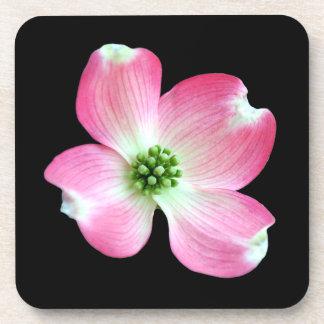 Pink Dogwood Flower Cork Coaster