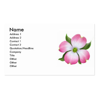 Pink Dogwood Flower Profile Card Business Card Templates