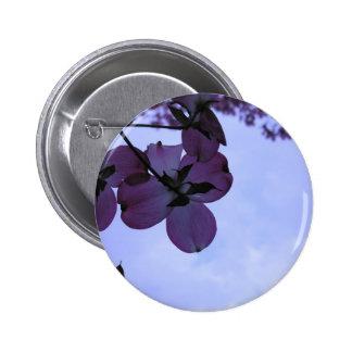 Pink Dogwood Flowers Pinback Buttons