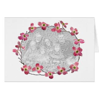 Pink Dogwood Flowers Greeting Card