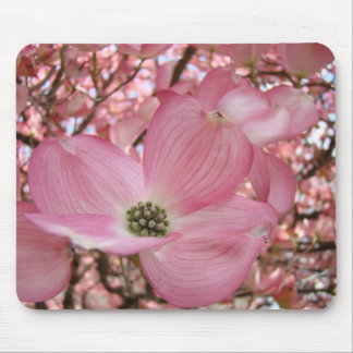 Pink DOGWOOD FLOWERS MOUSE PADS MOUSEPAD