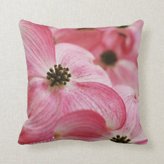 Pink Dogwood Flowers Throw Cushion