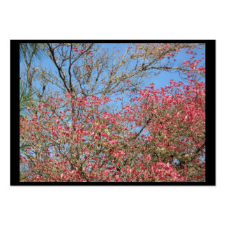 Pink Dogwood Tangle frame Pack Of Chubby Business Cards