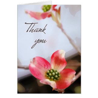 Pink Dogwood Thank You Card