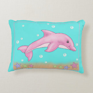 Pink dolphin pillow