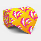 Pink Dolphins Dancing in the Tropical Sun Tie