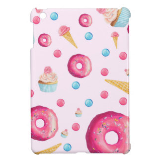 Pink Donut Collage Cover For The iPad Mini