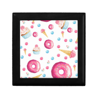 Pink Donut Collage Gift Box