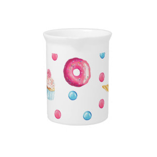 Pink Donut Collage Pitcher