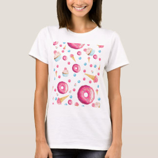 Pink Donut Collage T-Shirt