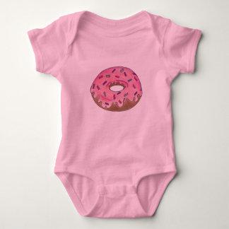 Pink Donut Doughnut Sprinkles Breakfast Junk Food Baby Bodysuit