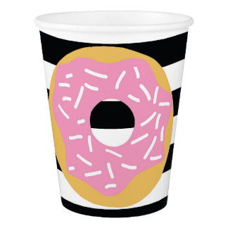 Pink Donut Party Cups