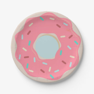 Pink Donut Party Plate