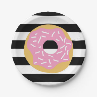 Pink Donut Party Plates