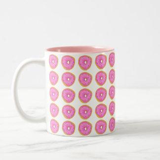 Pink Donut Two-Tone Coffee Mug
