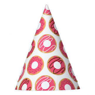 Pink Donuts Pattern Party Hat