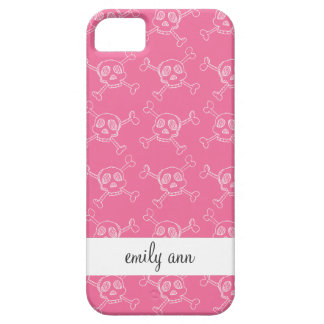 Pink Doodle Punk Rock Skull Pattern iPhone 5 Cover