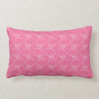 Pink Doodle Punk Rock Skull Pattern Pillows