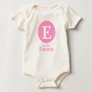 Pink Dot: Initial/name Baby Bodysuit