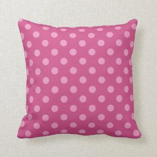 Pink dot throw pillow