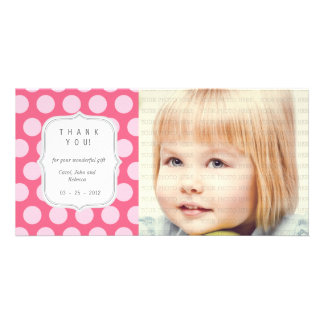 Pink Dots - Any Occasion Thank you Personalized Photo Card