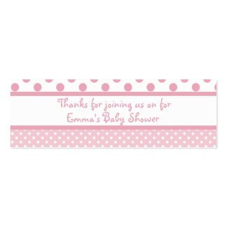 Pink Dots Baby Shower Favor Tag Pack Of Skinny Business Cards