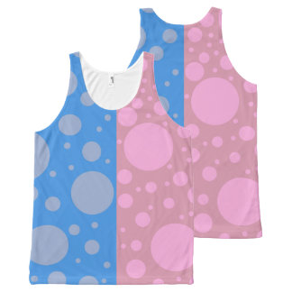 Pink Dots Custom All-Over Printed Unisex Vest
