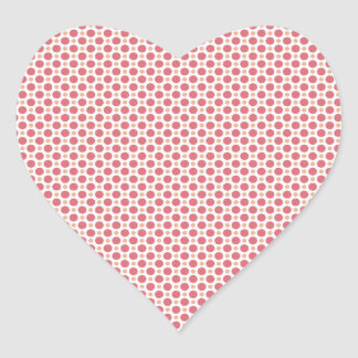 Pink Dots Heart Sticker