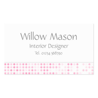 Pink Dots - Professional Monogram Business Card