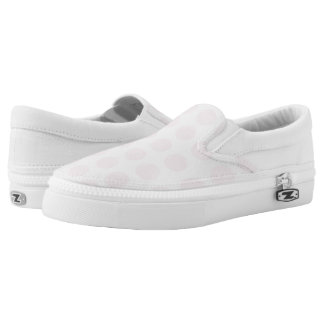 Pink Dots Slip on Shoes Printed Shoes