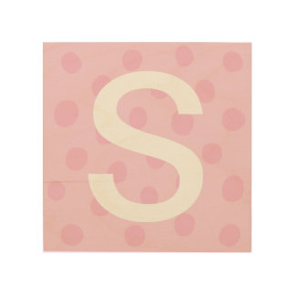 Pink Dots with Initial Letter Kids' Room Decor