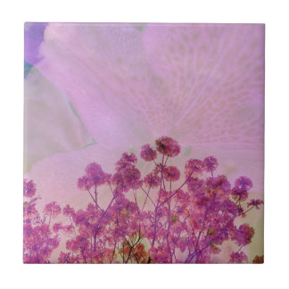 Pink Double Exposure Tile