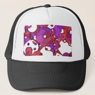 Pink doughnuts trucker hat