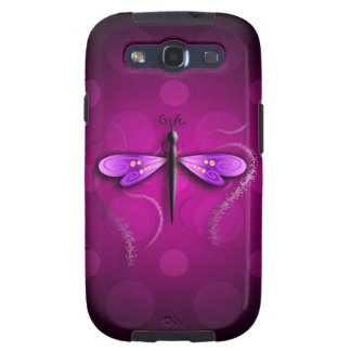 Pink Dragon Fly Polka Dots Galaxy S3 Cases