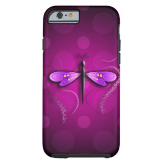 Pink Dragon Fly Polka Dots! Tough iPhone 6 Case