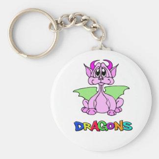 Pink Dragon Key Ring