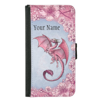 Pink Dragon of Spring Nature Fantasy Art