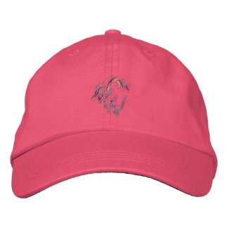 Pink dragon of thorns embroidered hat