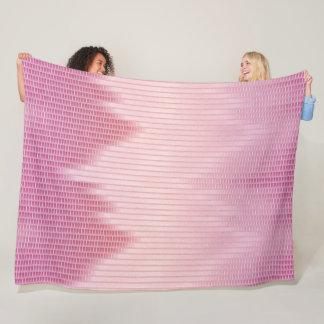Pink Dragon Satin Scales Pattern Fleece Blanket