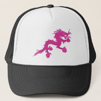 pink dragon trucker hat