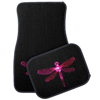 Pink Dragonfly Car Mat
