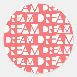 Pink Dream Geometric Cutout Print Classic Round Sticker