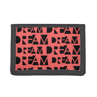 Pink Dream Geometric Cutout Print Trifold Wallets