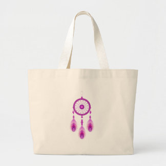 Pink Dreamcatcher Large Tote Bag
