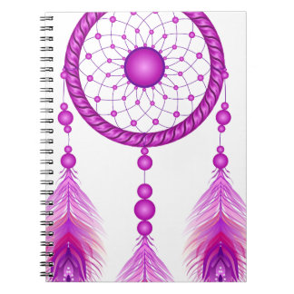 Pink Dreamcatcher Spiral Notebook