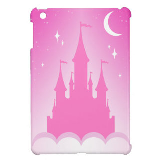 Pink Dreamy Castle In The Clouds Starry Moon Sky iPad Mini Cover